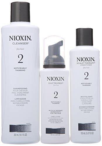 nioxin hair system kit 2 for noticeably thinning natural nioxin 3 piece system 2 noticeably thinning for fine hair