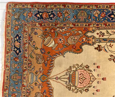 lot 910 tabriz wool and silk tree of rug