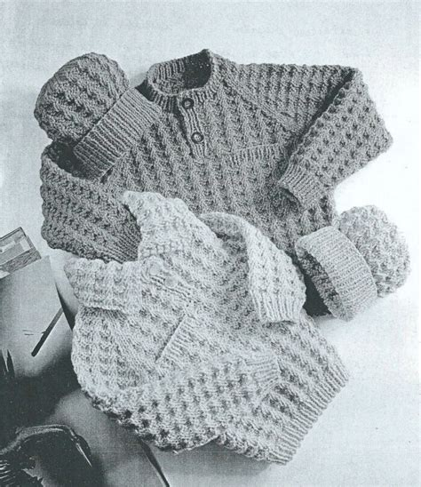 retro pattern jumper knit baby sweater and hatvintage pattern toddler knitting