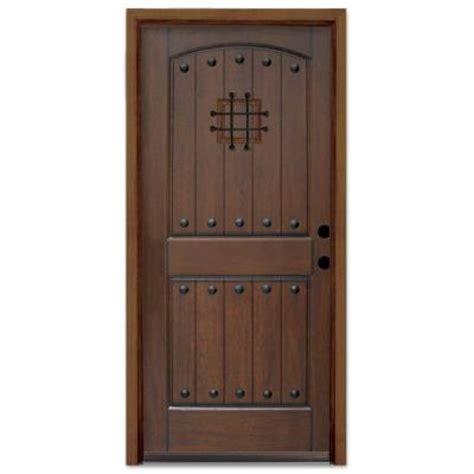 Home Depot Wood Exterior Doors Steves Sons Rustic 2 Panel Plank Prefinished Mahogany Wood Prehung Front Door Q6pzm5ngaatglh