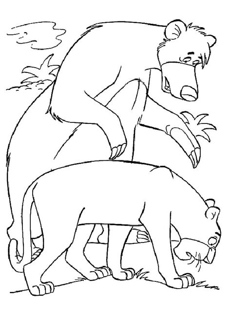disney coloring pages jungle book coloring page junglebook coloring pages 9