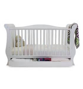 babystyle hollie 2 cot bed drawer curved side white
