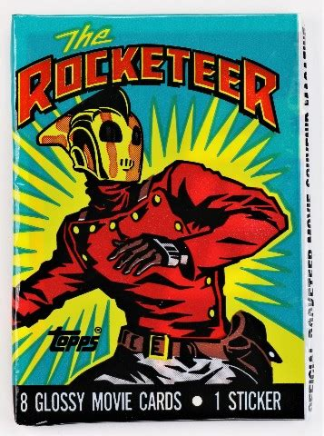 vintage  topps rocketeer trading cards wax pack