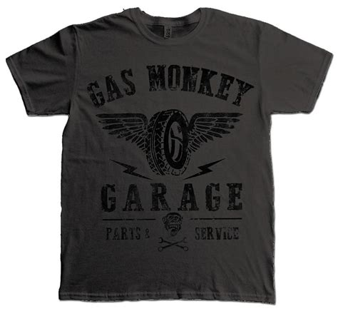 Monkey Garage Shirts by Official T Shirt Gas Monkey Garage Gmg Tyres Parts Service