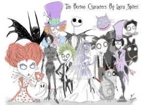 tim burton characters by lauraspiteri on deviantart