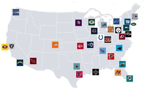 map usa nfl teams related keywords suggestions for nfl stadiums map
