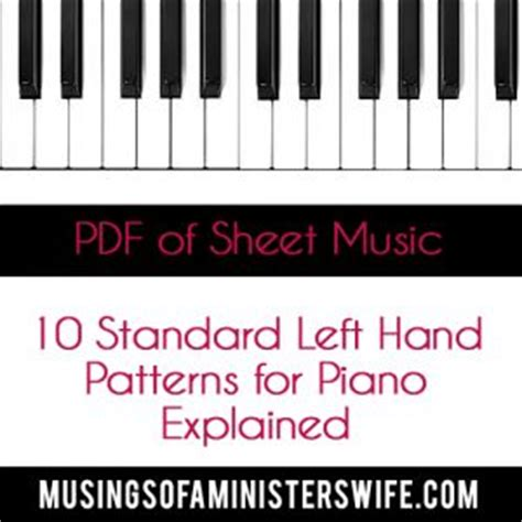 10 standard left hand patterns 10417 best christian music therapy images on pinterest
