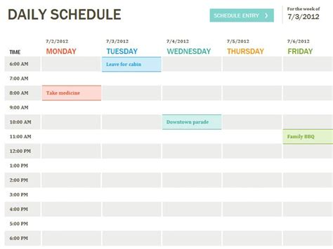 25 best ideas about schedule templates on pinterest