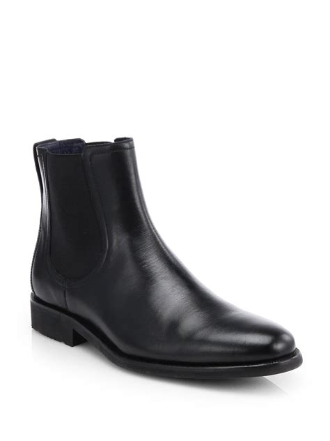 cole haan stanton chelsea boots in black for lyst