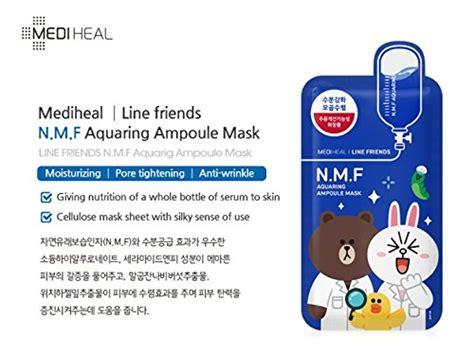 Masker Line mediheal line friends n m f aquaringer oule mask sheet 27ml x 10pcs mediheal beautil
