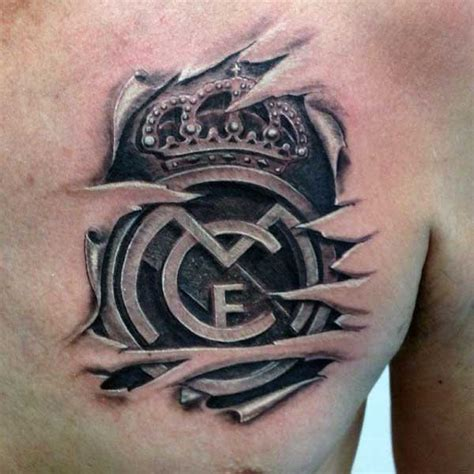 3d tattoo on black skin 7 real madrid tattoo designs