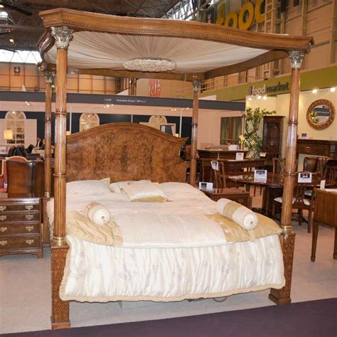 regency bedroom furniture regency walnut size four poster bed bedroom furniture ebay