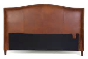 king size leather headboard in tobacco brown by
