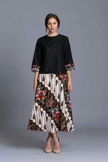 Dress Maxi Lurik Daun Sogan 3 dari 50 lebih gambar model baju batik modern terbaru