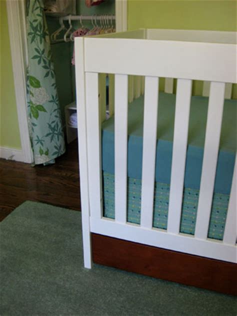 nursery progress how to make a no sew crib skirt