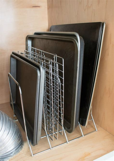 Baking Sheet Rack by Simple Ideas For Organizing Your Kitchen Metal Rack