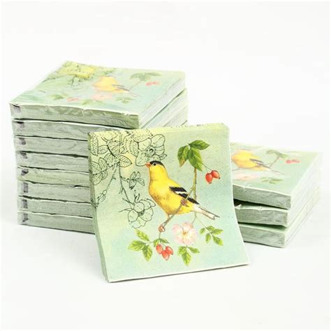 decoupage napkins wholesale cocktail paper napkins 20pcs 25x25cm 3 ply green paper
