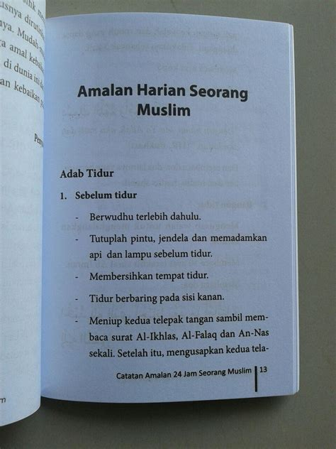 Ensiklopedi Aqiqah buku saku catatan amalan 24 jam seorang muslim