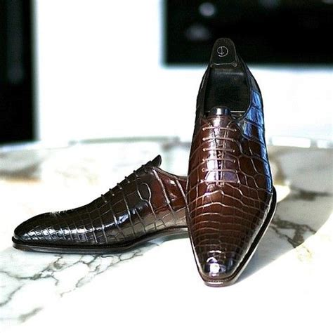 brown alligator oxford shoes shoes