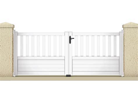echelle de decoration 1227 portail 224 battant quot jupiter quot 3 05 m pvc coloris blanc