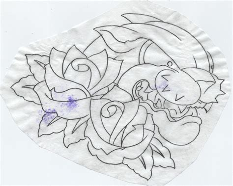 rose tattoo template stencil cake ideas and designs