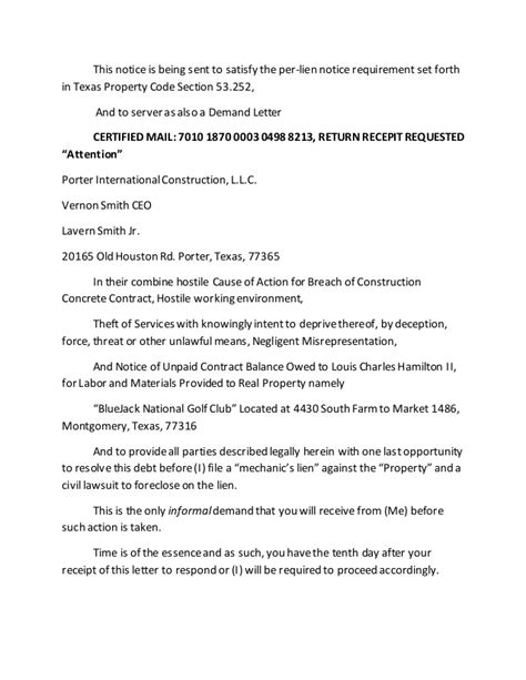 Demand Letter For Qualified Theft June 15th 2015 Bluejack National Golf Club Demand Letter