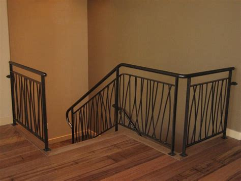 metal stair rails and banisters wrought iron loft railing ideas interior stairs and