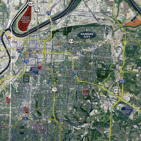 map kansas city kansas city aerial wall mural landiscor real estate