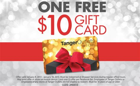 Schnucks Gift Card Promotion - free 10 tanger outlets gift card available again become a coupon queen