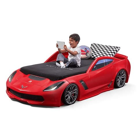 corvette z06 toddler to bed bed step2