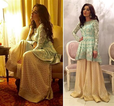 latest pakistani short frocks peplum tops styles designs