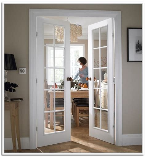White Interior Glass Doors White Interior Doors With Glass Photo