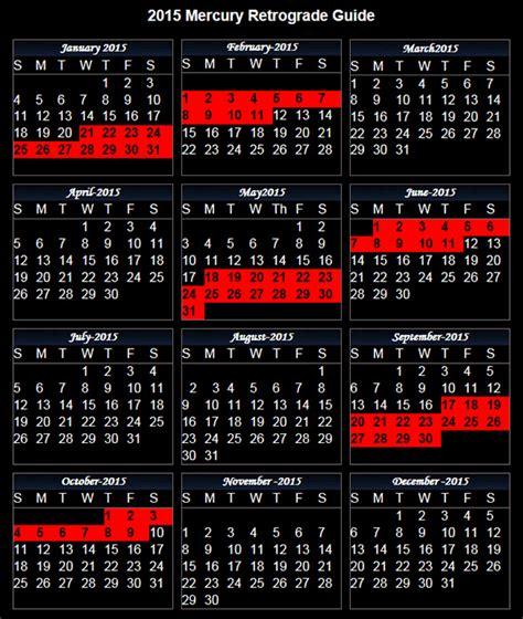 Mercury Retrograde Calendar Mercury Retrograde 2016 Calendar Calendar Template 2016