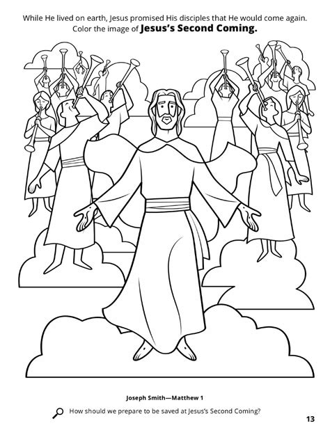 coloring page jesus coming again the second coming of jesus