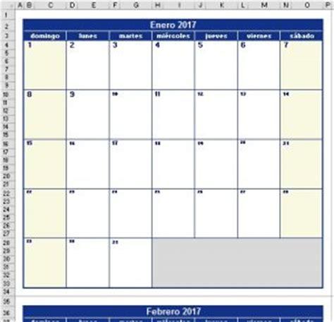 Calendario Vertical Calendario 2018 Excel 171 Excel Avanzado