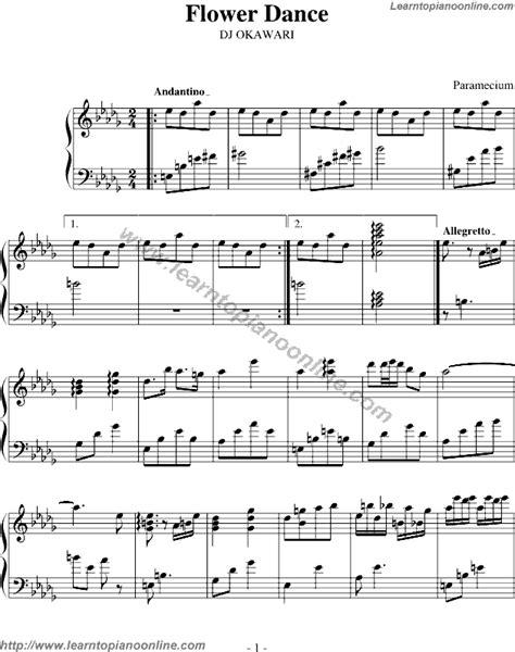 tutorial dance piano dj okawari flower dance version2 free piano sheet music