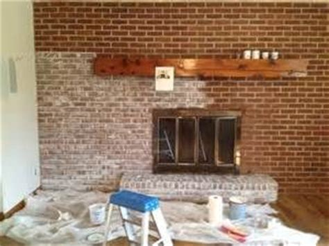 lime wash brick fireplace images decorating