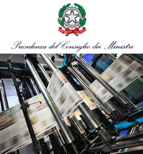 presidenza consiglio dei ministri pec contributi editoria domande entro il 31 gennaio