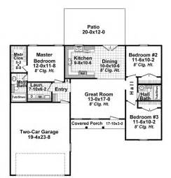1200 Sq Ft by Ranch Plan 1 200 Square Feet 3 Bedrooms 2 Bathrooms