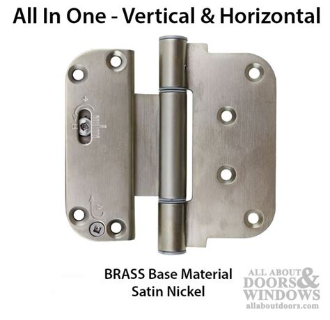 Adjustable Hinges For Exterior Doors 3 5 8 X 4 Adjustable Hinge All In One V H Nrp Outswing Door Brass Base Pvd Satin Nickel