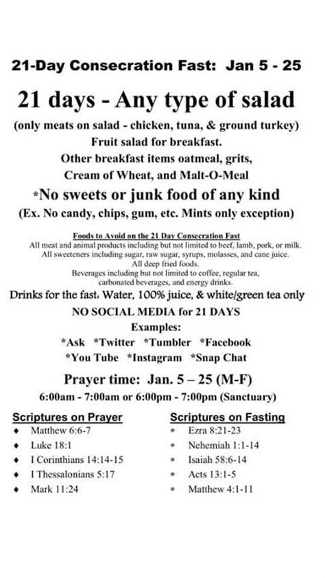Spiritual Detox Diet by 21 Day Consecration Fast Biblical 21st