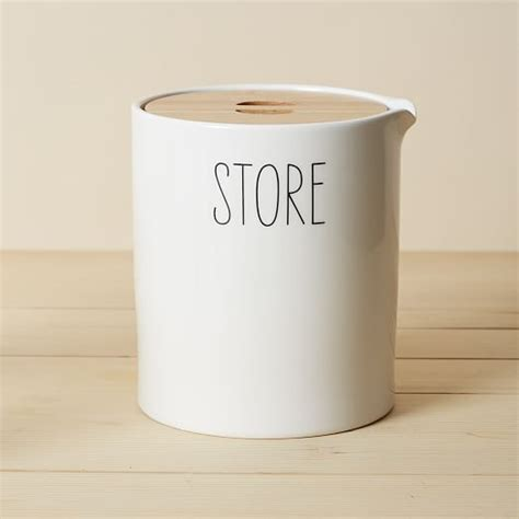 Storage Canisters For Kitchen by Labeled Kitchen Storage Canisters West Elm
