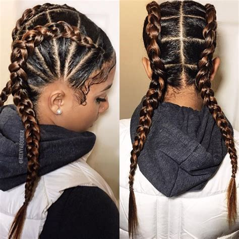 Braids Hairstyles For Black With Weave by Best 25 2 Cornrow Braids Ideas On