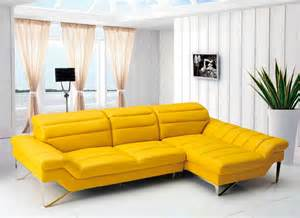 Yellow Sectional Sofa Modern Yellow Sectional Sofa Vg 4 Leather Sectionals