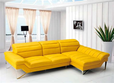 modern yellow sectional sofa vg 4 leather sectionals
