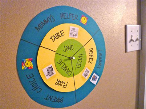 chore wheel template craftyerin chore wheel
