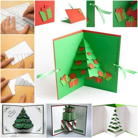how to make a pop up greeting card how to diy 3d pop up tree card fab diy