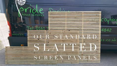 Fence Screening Panels Slatted Screen Fencing Price List Pride Home Services