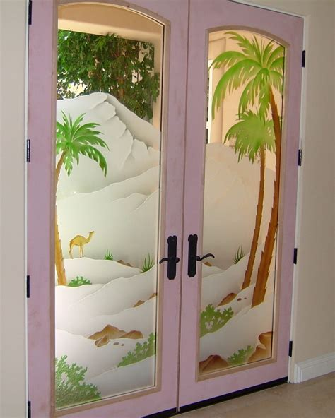 Door Glass Design Frosted Glass Doors Tree Designs Sans Soucie Glass