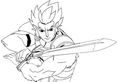 Kleurplaat Thundercats Lion O 2 Thundercats Coloring Pages